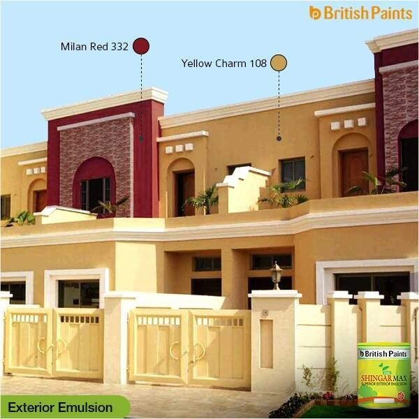Choosing a colour palette for the exterior of the home is as important as choosing interior colours.   Blend in or just contrast a combination of colours for that desired look.   Tell us and share your idea of a perfect blend of colours for exteriors.  British Paints