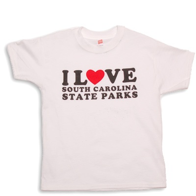 Get your youth-size I Love South Carolina State Parks tshirt!  #SCStateParks