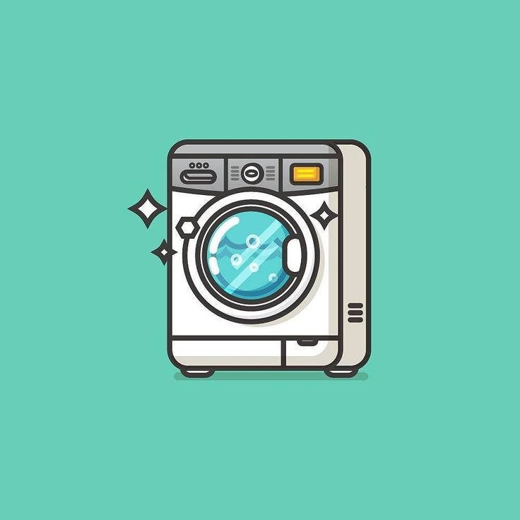 Front loading washing machine. #illustration #icon #pictogram #visforvector…