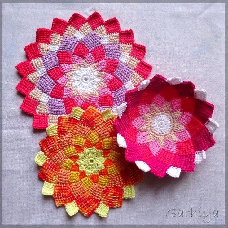 """my sweet lemons: Tunesisches Häkeln + entrelac crochet"""