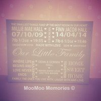 XL wooden personalised family quote board keepsake, home decor