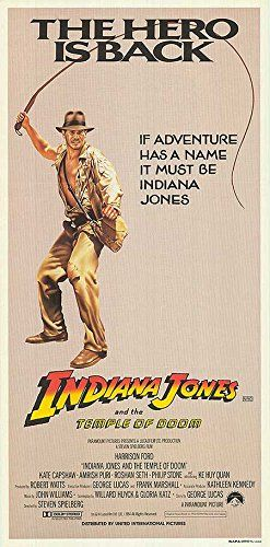 Indiana Jones and the Temple of Doom - Authentic Original 13 x 27 Movie Poster @ niftywarehouse.com #NiftyWarehouse #IndianaJones #GeorgeLucas #HarrisonFord #Movies
