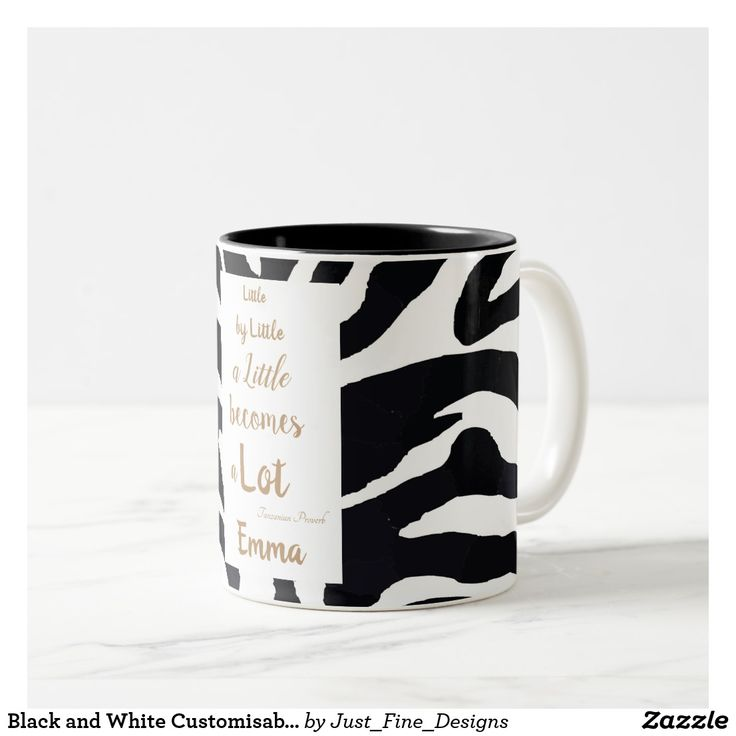 Good Teachers gift Black and White Customisable Inspirational quote. Two-Tone Coffee Mug