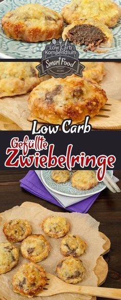 Low-Carb Gefüllte Zwiebelringe - Ein besonders pfiffiges Low-Carb Rezept :) Die gefüllten Zwiebelringe sind prima auch zum Mitnehmen, denn die schmecken warm & kalt.