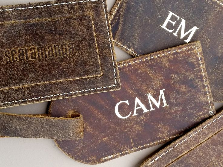 Personalised Luggage Tag - Gold Embossed