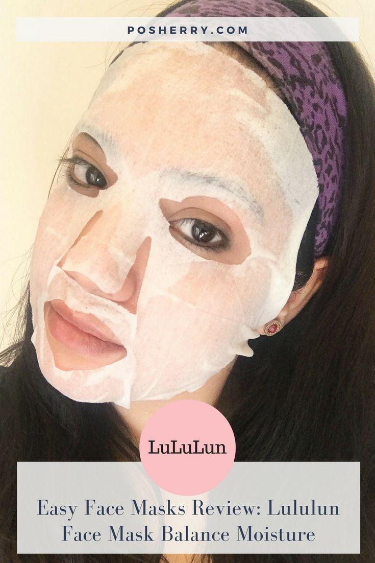 Easy Face Masks Review: Lululun Face Mask Balance Moisture