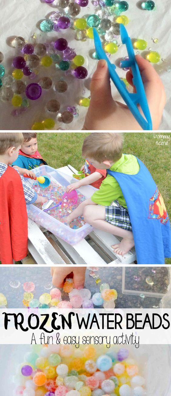 Fun sensory uses for water beads and kid's preschool activities