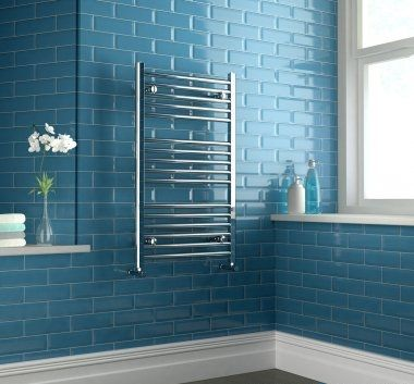 Chrome Heated Straight Rail Ladder Towel Radiator - 1000x600mm [PT-RH1000600] - £89.09 : Platinum Taps & Bathrooms