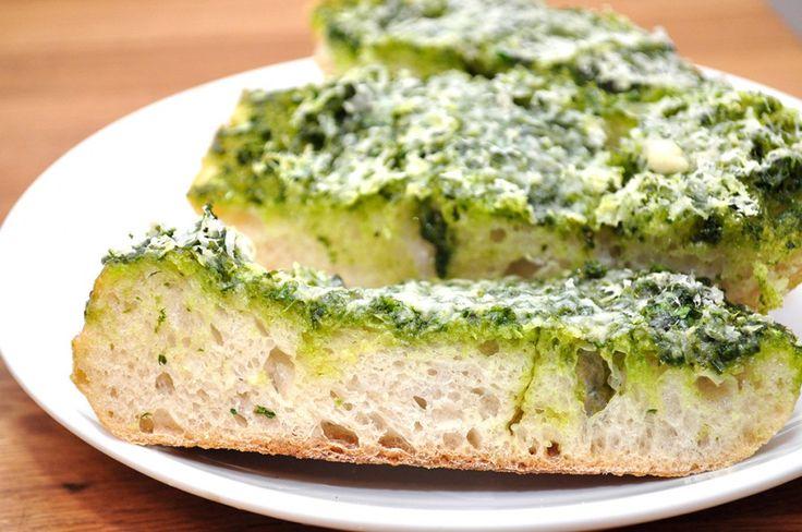 Basil Butter Garlic Bread