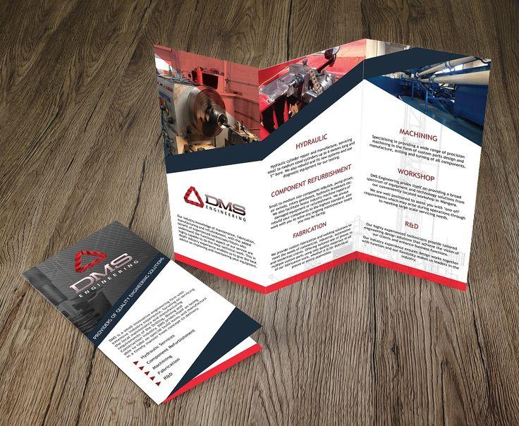 Roll fold brochure design