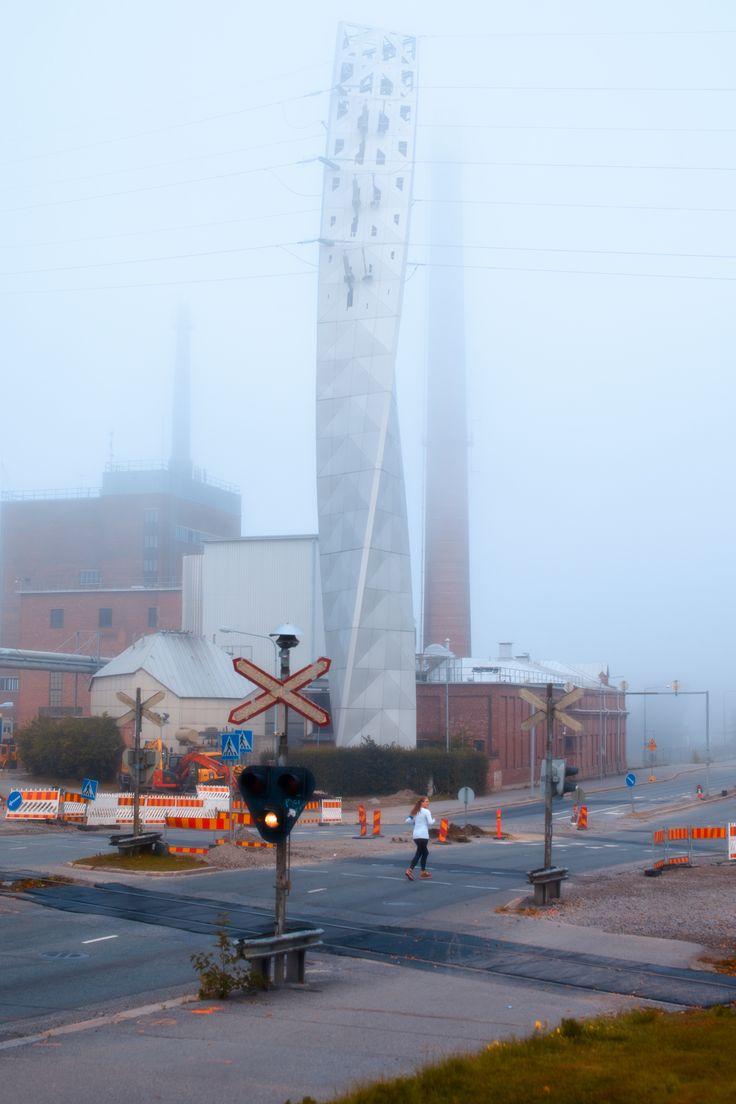 Misty morning in Vaasa. Photographer: Jouni Karjala