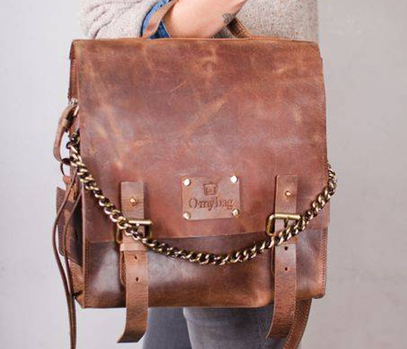 Frankie Fierce Bag, leather backpack