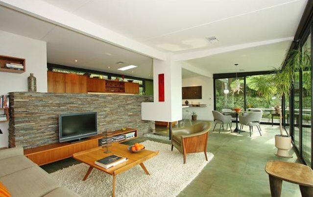 Mid century modern floor plans love the true open floor for Mid century modern flooring
