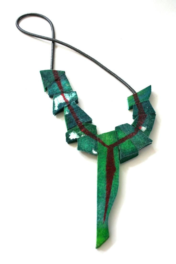 "Leisa Rich ""Andy Goldsworthy Inspires Me"" Industrial Felt, dyes, metal beads"