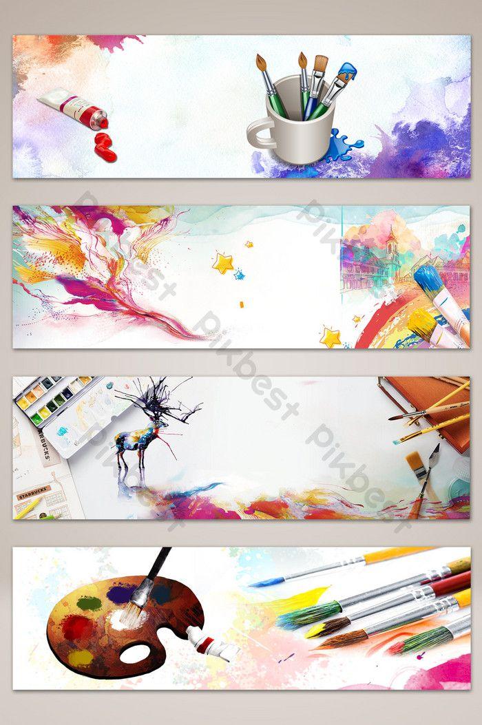 رسمت باليد أدوات الرسم الأدبي راية الملصق الخلفية خلفيات Psd تحميل مجاني Pikbest Painting Tools How To Draw Hands Painting