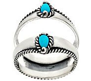 Carolyn Pollack Sleeping Beauty Turquoise Ster. Ring Guard - J328186
