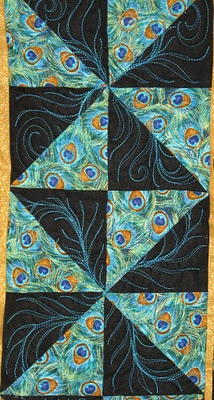 Candy Mountain Quilts: A peacock quilt for Rhonda
