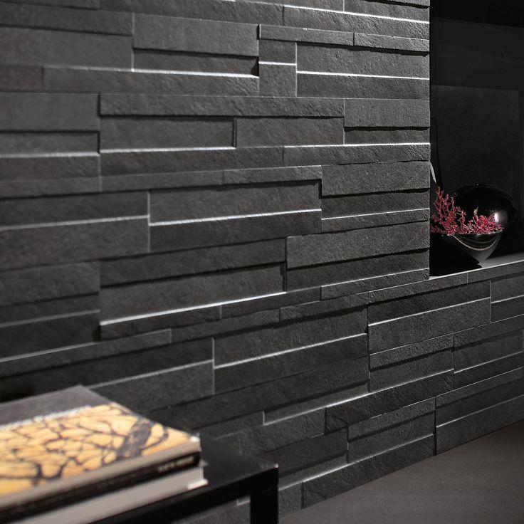 breathtaking brick wall tiles bathroom | Ego Coal Brick Effect Wall Tile | Brick effect wall tiles ...