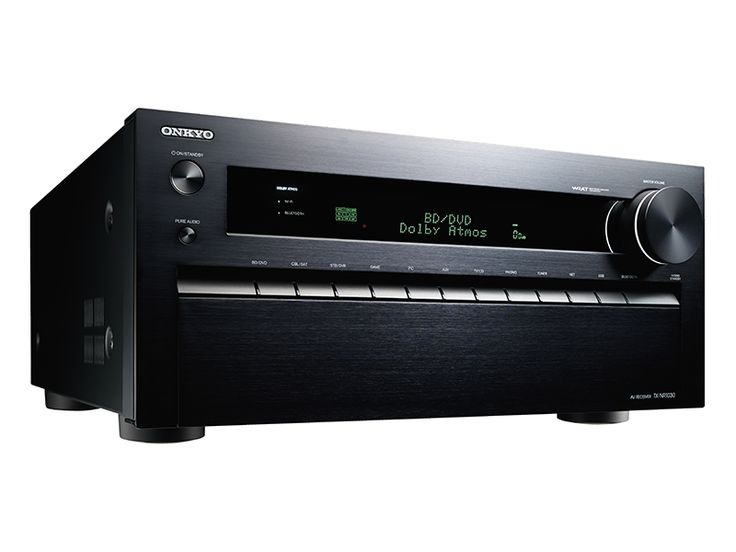 Onkyo TX-NR1030 9.2-Channel Network A/V Receiver Home Entertainment Hits the Afterburners (HDMI 2.0)  Get tomorrow's high-impact entertainment today with the TX-NR1030. Separate amp and processing blocks, a massive high-current transformer, seven Burr-Brown DACs, and dual 32-bit DSP engines provide a solid foundation for Dolby Atmos®, the revolutionary surround-sound format adding a new dimension to movie soundtracks. Originally developed for use in multiplex theaters, Dolby Atmos uses…