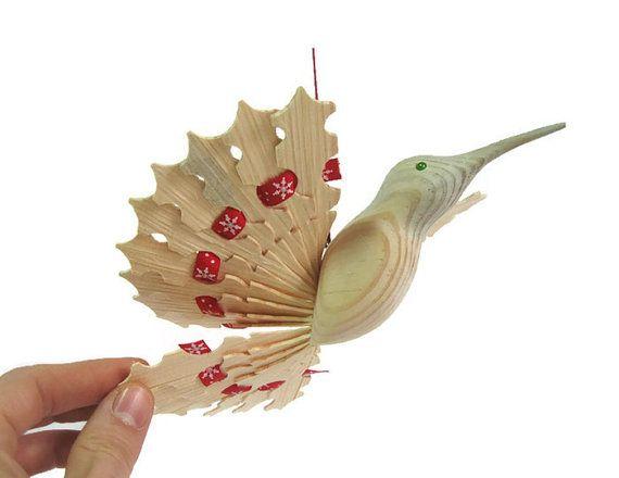 Hummingbird Art Wooden Fan Bird Mobile 5th by MyFanbirds on Etsy