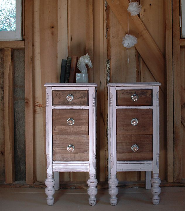 Love The Knobs On These Recycled Dressers Nightstands
