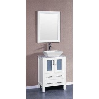 Website With Photo Gallery Shop for Bosconi inch AWSQCM Single Vanity with Mirror and Faucet Get