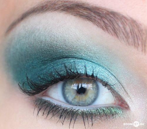 бирюзовый макияж для зеленых глаз - Поиск в Google