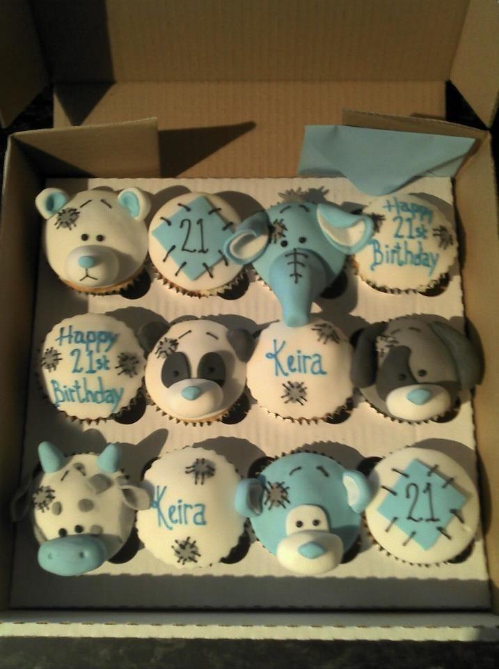 blue nose friends cupcakes