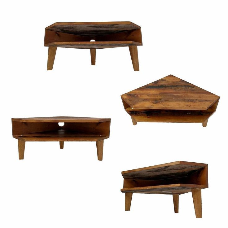 Luxuriant hues of Canadian Cedar oil on antique pine #reclaimed #floorboards. A new take on the box table with this three legged TV stand #sawnlondon #threelegged #tvstand