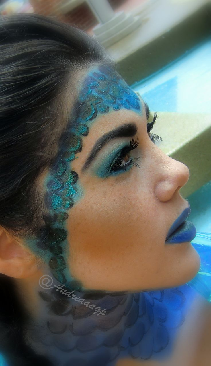 Blue fish inspirational makeup | Costume Ideas | Pinterest