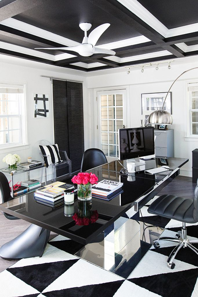Get The Look Hollywood Glam Black And White Office E Chic Es Pinterest Home Design Decor