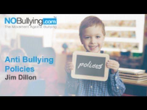 Jim Dillon on Anti Bullying Policies. http://nobullying.com/jim-dillon-on-anti-bullying-policies/ #bullyingexperts, #healthprofessionals, #parents, #nobullyingvidoes