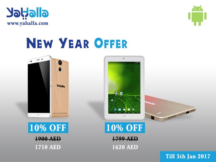 New Year offer: Now Avail 10% discount on YaHalla Smartphone & Tablets. Offer Valid till 5th January, 2017. Click here - http://www.yahalla.com #newyearoffer #offer #offer2017 #year2017 #newyear2017 #happynewyear #new #discount #smartphone #tablets #mobiles #dubai #technology #uae