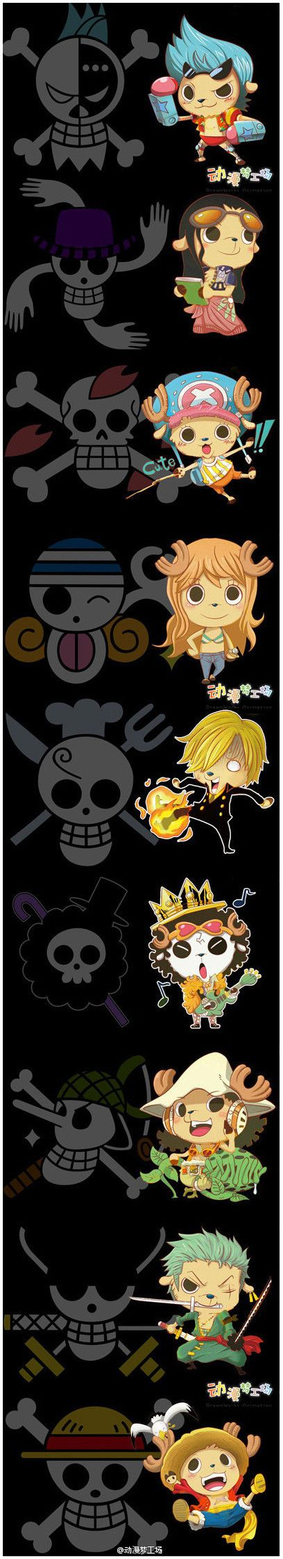 What the straw hats would look like if they were all deer... Luffy's so cute!!