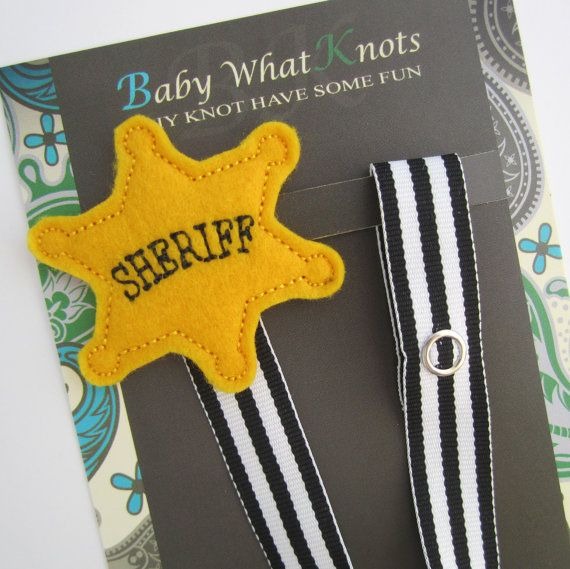 Sherriff Badge Pacifier Clip Police Badge by BabyWhatKnots on Etsy, $9.50