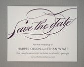 Classic Save the Date - Simple Save the Date, Traditional, Calligraphy, Save the Date, Script, Wedding, Minimal, Flourish, Letterpress