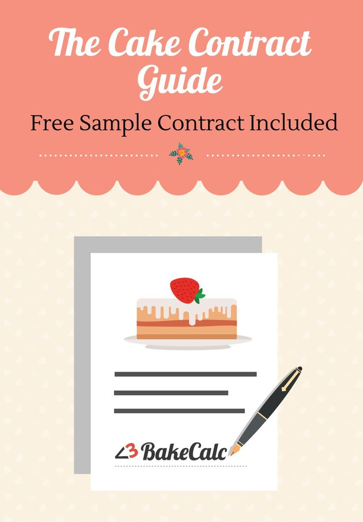 the cake contract guide with sample template included. Black Bedroom Furniture Sets. Home Design Ideas