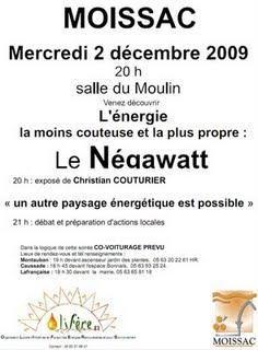 Conférence NegaWatt - 2 décembre 2010 - Moissac - 20h