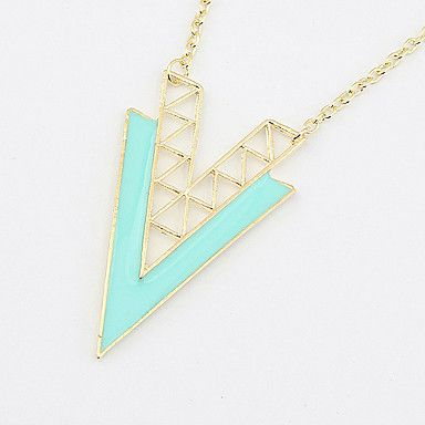 USD $ 2.84 - Double V Oil Pendant Necklace, Free Shipping On All Gadgets!