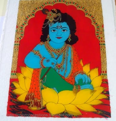 Color Conceptions: Tanjore glass paintings