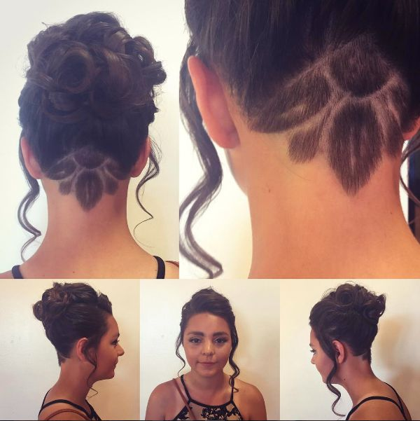 Manda Kay is the queen of updos and undercuts! This hairstyle was perfect for homecoming.