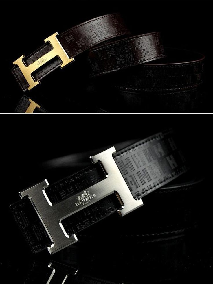 Hermes h logo belt with gold or white gold hardware for men.  Visit WishlistPages.com for more stylish belts.