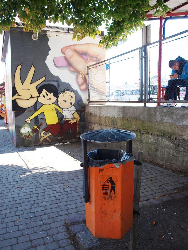 Projekt nowego dworca PKS - Galerie . Bolek i Lolek. #graffiti #mural #poland #przemyśl #dworzec