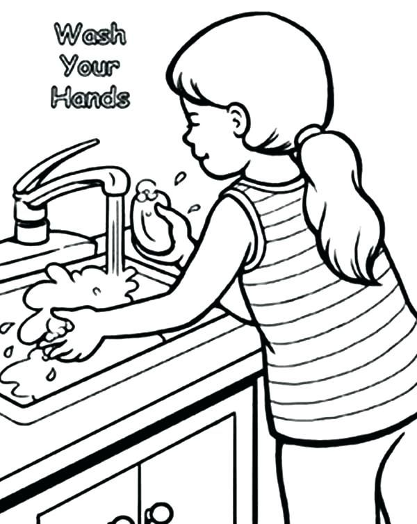 Hand Coloring Page Washing Picture Logo Pages Coloring Pages