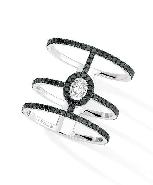La bague Glam'Azone en diamants noirs de Messika