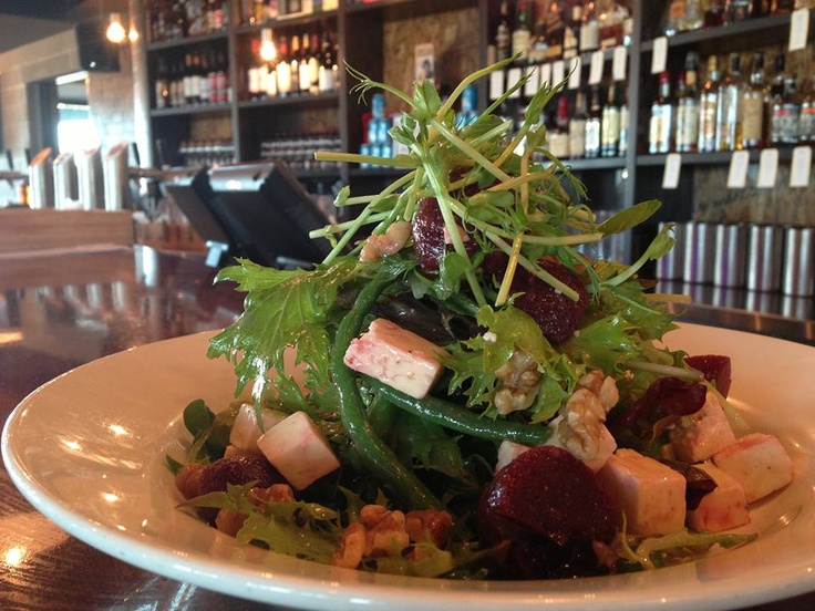 Baby Beetroot and Feta Salad w/ green beans, walnuts & red wine vinaigrette (Vegetarian and Gluten Free) available @ The Quarie