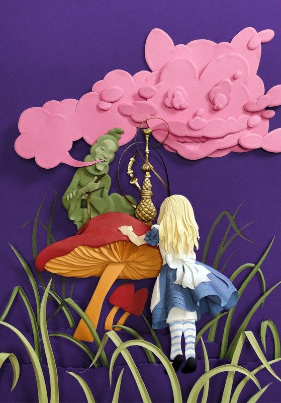 Alice Paper Sculpture