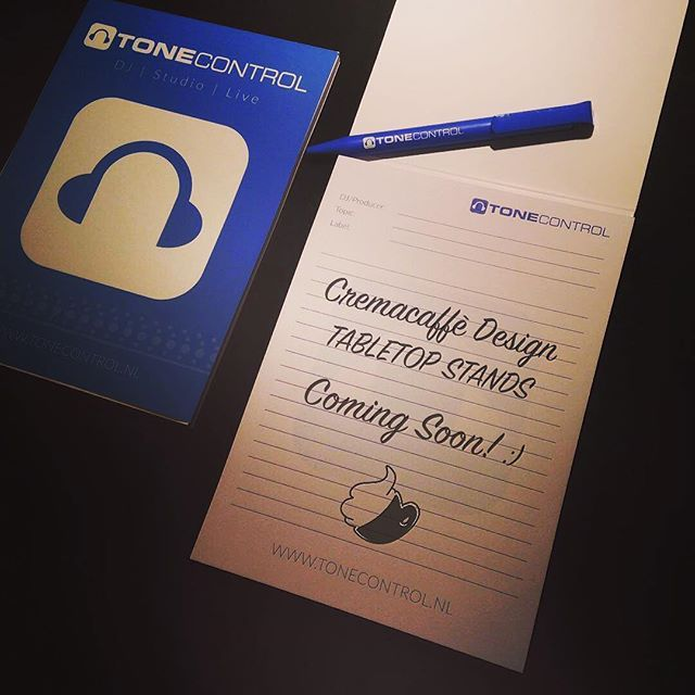 To all of our friends in the Netherlands, Cremacaffè Design products soon available at @tonecontrolods .  Make sure to pay them a visit! 😉👍🏻 ToneControl DJ apparatuur en studio gear koop je bij de beste DJ winkel http://www.tonecontrol.nl  #cremacaffedesign #tonecontrol #netherlands #haarlem #dj #musicgear #electronicmusic #musician #synthstand #tabletop #synth #stand #musicproducer #studiolife #comingsoon
