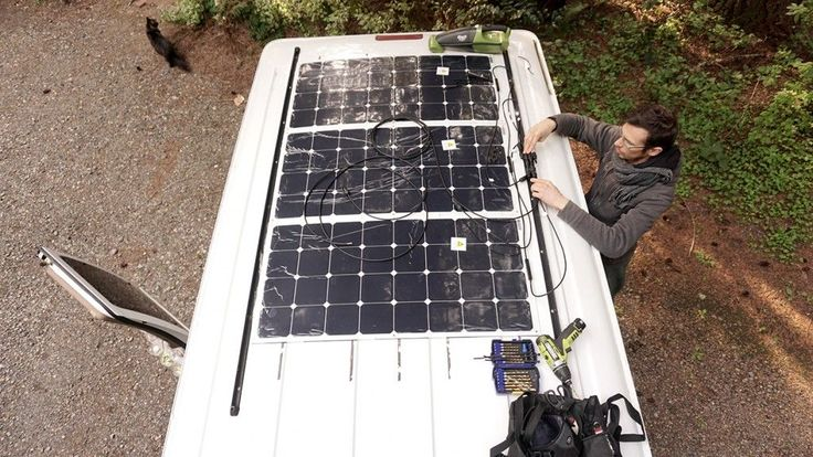 Solar panels on the van roof - Exploring Alternatives  Everything for about $1500