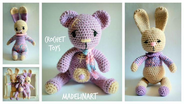 Zabawki przytulanki CROCHET TOYS Lawenda - MadelinART - Maskotki i pluszaki